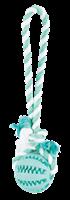 Trixie Denta Fun Ball am Tau - Minzgeschmack - Naturgummi - ø 7/24 cm (3299)