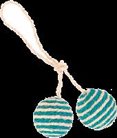 Trixie 2 Bälle am Seil aus Sisal - ø 4,5 cm (4077)