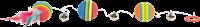 Trixie Rainbow Bälle am Gummiband - ø 3,5 cm / 80 cm (4133)