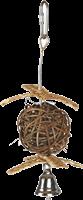 Trixie Weidenball mit Glocke - 5,5 cm / 18 cm (58965)