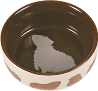 Trixie Keramiknapf mit Meerschweinchenmotiv - Farbwahl zufällig - 250 ml / ø 11 cm (60732)