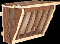 Trixie Natural Living - Heuraufe zum Einhängen aus Holz - 20 × 15 × 17 cm (61191)