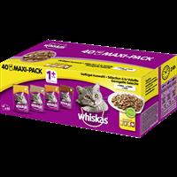 Whiskas 1+ in Gelee - Multipack - 40 x 100 g - Geflügelauswahl (133266)