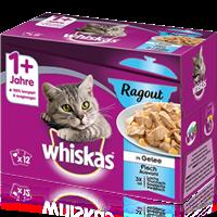 Whiskas 1+ Ragout Multipack - 12 x 85 g