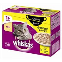 Whiskas 1+ Creamy Soups - 12 x 85 g - Geflügelauswahl (254551)