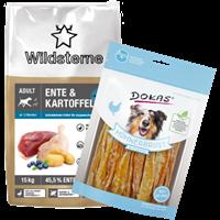 Wildsterne Ente & Kartoffel Adult - 15 kg + GRATIS Dokas Snack (200571 MCVP 01)