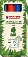 21-4 Permanentmarkerset EcoLine Edding 4-21-4