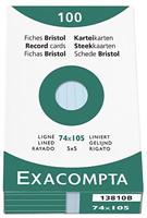 Karteikarten, liniert Exacompta 13810B
