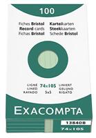 Karteikarten, liniert Exacompta 13840B