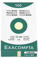 Karteikarten, liniert Exacompta 13820B