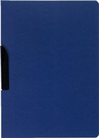 Klemmmappen Karton blau Exacompta 38702E