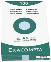Karteikarten, liniert Exacompta 13818B