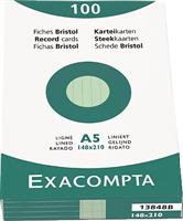 Karteikarten, liniert Exacompta 13848B