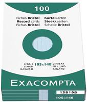 Karteikarten, liniert Exacompta 13819B
