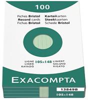 Karteikarten, liniert Exacompta 13849B