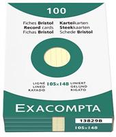 Karteikarten, liniert Exacompta 13829B