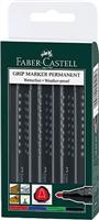 FABER_CASTELL Permanentmarker GRIP 1504 Rund 4er Faber-Castell 150404
