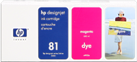 Cartucho de tinta HP 81