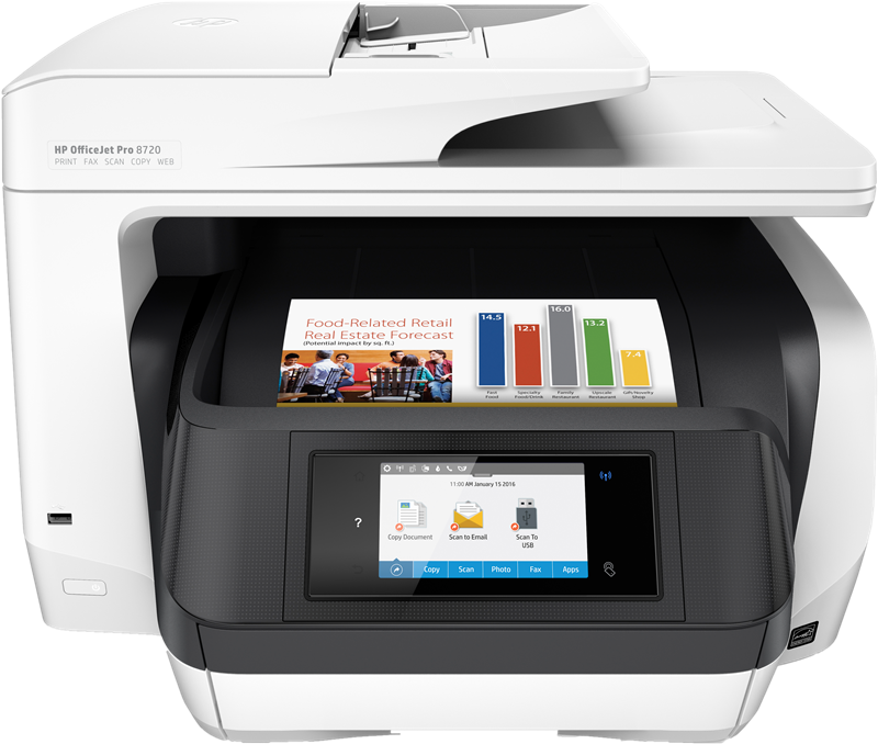 Tintenstrahldrucker HP Officejet Pro 8720