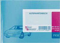 Fahrtenbuch , hellblau, DINA6 quer, 40Blatt K+E 8610141-954K40