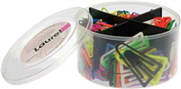 Plastiklips , Grund- Leuchtfarben, Plastik, 21 Laurel 0813-98