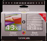 Multipack Lexmark 43 XL + 44 XL