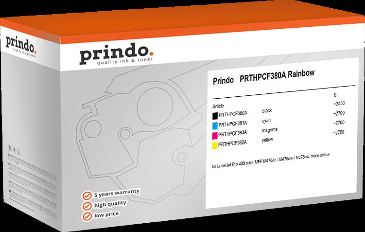 Value Pack Prindo PRTHPCF380A Rainbow