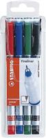 Tintenschreiber sensor 4er Etui Stabilo 189-4