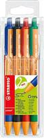 Kugelschreiber pointball 4er Etui Stabilo 6030/4
