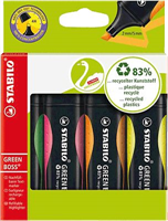 Textmarker GREEN BOSS, 4er Etui Stabilo 6070/4