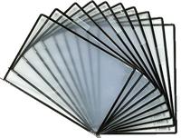Sichttafeln Sterifold ,schwarz, PVC+silber tarifold 114507